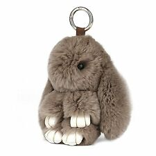 Cute Easter Rabbit Bunny Fur Doll Key Chain for Women Bag Charms