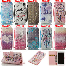 Cows Heart Butterfly Wallet Leather Flip Case Cover Stand Card Holder For iPhone