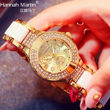 Fashion Analog Stainless Steel Band Quartz Military Army Womens Wristwatch Gift