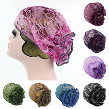 Women New Style Hijab Caps Lace Indian Stretch Turban Bonnet Head wrap Hijab Hat