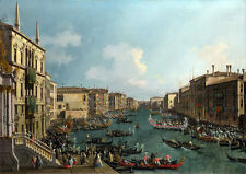 Canaletto: A Regatta on the Grand Canal. Art Print/Poster (3454)