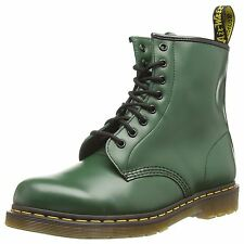 Dr.Martens 1460 8-Eye Green Womens 8-Eye Unisex Ankle Leather Boots 11822207 New