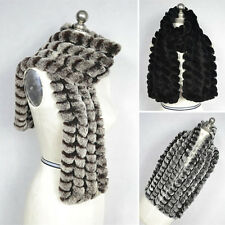 Women Real Rabbit Fur Scarf Scarves Stole Shawl Cape Magic Cheap Wrap Collar