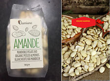 Damiano- Organic Raw Natural Peeled Almonds Produce by Italy Certified Sealed Pk