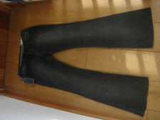 REPLAY WASHED BLACK BOOTCUT FLARED JEANS 29 WAIST UK 10 SMALL  BNWT