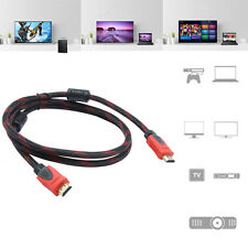 Gold Plated Casual HDMI Cable Nylon Braided *For BLURAY 3D DVD PS4 Pro HDTV XBOX