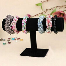 Hot Velvet T-Bar Jewelry Rack Bracelet Necklace Stand Organizer Holder Display@B