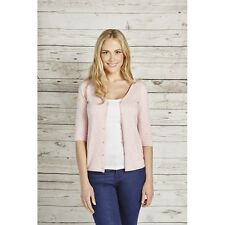Tulchan Embroidered Spot Cardigan - Soft Pink - Sizes 10 12 14 - BNWT