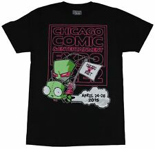 Invader Zim Mens T-Shirt - Gir & Invader Zim Chicago Comic Con 2015 or Bust