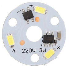 New Dimmable 3W 32mm 5730 SMD Aluminum Plate PCB LED Lamp Bead Chip AC220V