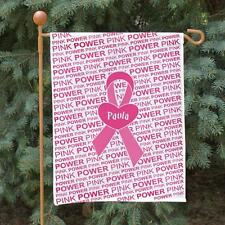 Personalized Breast Cancer Awareness Garden Flag Pink Ribbon Flag of Hope Decor