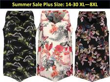 Plus size Womens Dip Hem Butterfly Strappy Lined Vest Top Sleeveless  New14-30