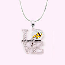 NCAA Georgia Tech Yellow Jackets 925 Sterling Silver Team Love Necklace