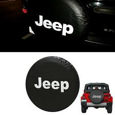 Wheel Tire Tyre Spare Tire Cover w/ Logo For Jeep Wrangler JK 16/17 Inch