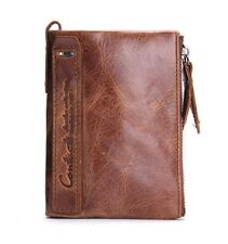 Wallet Leather Organizer Wallets Vintage Cowhide Leather Card Holder
