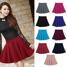 Women Mini Short Skirt Fall Skirts Womens Stretch High Waist Pleated Tutu Skirt