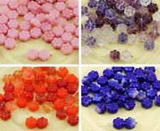 40pcs Mix Czech Glass Coin Flat Round Flower Round Beads 8mm