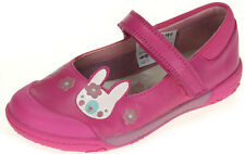 Clarks NIBBLES NICE Girls Lipstick Pink Leather Riptape Shoes 7 - 12.5 EFGH BNIB