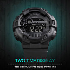 Men Digital Sports Watches Waterproof Chronograph Shock Double Time Wristwatches