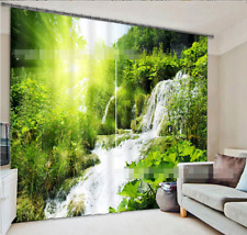 3D Waterfall 21 Blockout Photo Curtain Printing Curtains Drapes Fabric Window AU