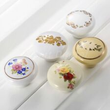 Fashion Round Furniture Knob Ceramic Drawer Cabinet Pulls Closet Cupboard Handle