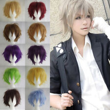 US Ladies Anime Wig Short Curly Hair Cosplay Party Wigs Fashion Multi-Colour A1