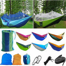 Hammock Parachute Portable Camping Nylon Fabric Person Bed Travel Double Outdoor