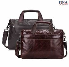 New Business Leather Mens Briefcase Laptop Totes Messenger Shoulder Bag Hangbags