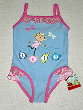 NEW Girls CHARLIE & LOLA Swimming Costume Swimsuit 12 18 24 months 1 2 3 yrs