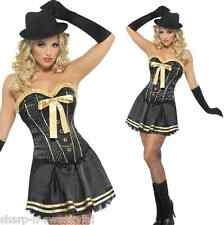 Ladies Sexy 1920s Corset Tutu Gangster Moll Hen Do Fancy Dress Costume Outfit
