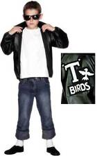 Boys Official Licensed Grease T-Bird 1950s Film Fancy Dress Costume Outfit 6-1