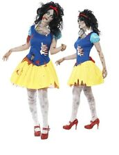 Ladies Zombie Snow White Twisted FairyTale Halloween Fancy Dress Costume Outfit