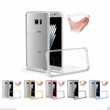 Samsung Galaxy s7 EDGE Shockabsorber Clear Hard Back Case Silicone Bumper Cover