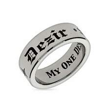 My One Desire Stainless Steel Poesy Ring - Clearance