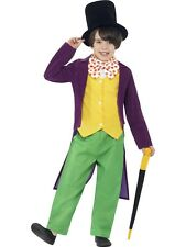 Boys Roald Dahl Willy Wonka Book Day Character Fancy Dress Costume Outfit