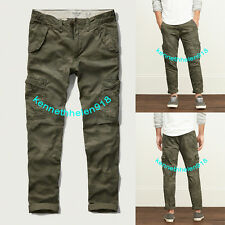 NWT ABERCROMBIE & FITCH MENS CARGO TAPER CHINOS PANTS CAMO SZ 31X30,32X34