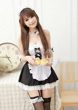 Sexy Girl's Maid Lolita Uniform Halloween Costume Dress Cosplay Outfit ZPUS