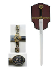 """NEW 45"""" Medieval King Arthur Excalibur Golden Sword Round Table Knights"""