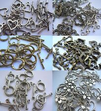Findings - Metal - 10 pairs of Toggle and T-Bar Clasps - Choose Colour & Shape!