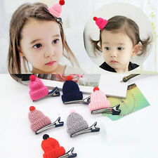 10pcs/lot Cute Cap Hair Clips Hair Ties Rope Hair Accessories For Kids Baby Girl