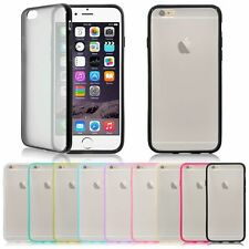 TPU Silicone Rubber Bumper Frosted Hard Back Case Cover For Apple iPhone 5 5S 6