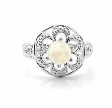 925 Sterling Silver Ring with Round Cut Opal Natural Gemstone Handmade eBay.