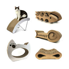 Fish Model Cat Scratcher Claw Scratching Cardboard  Pet Suppiles Toy Pad Gift