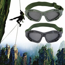 New Tactical Outdoor Steel Mesh Eyes Protective Goggles Glasses Eyewear BG