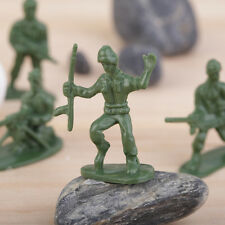 100pcs/Pack Military Plastic Toy Soldiers Army Men Figures 12 Poses Gift BA