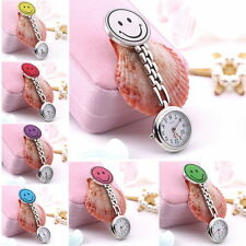 Smile Face Nurse Fob Watch Clip Watch Medical Use Pocket Quartz Clasp Watch BG