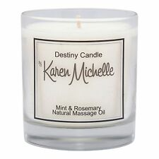 Mint & Rosemary Scented Massage Oil Candle - Destiny Candle with Jewelry