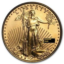 Lot of 5 -  Gold American Eagle $5 Coins- Random Year  1/10 oz .9999 pure Gold