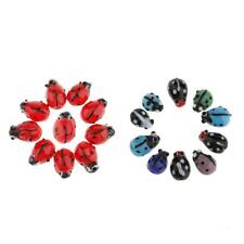10x Ladybug Lampwork Glass Spacer Beads for Jewelry Making DIY Accessories 12mm