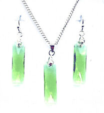 PERIDOT - Earrings/ Pendant or Set - made with genuine Swarovski Crystals